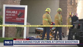 Child among 4 victims at office shooting in Orange