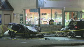 Two dead, 4 injured during crash outside North Hollywood liquor store