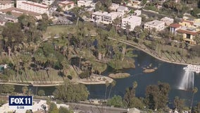 Echo Park closed after protests, arrests; repair and renovation project proceeds