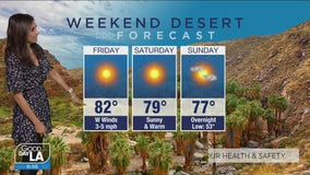 Weekend desert forecast for March 5-7, 2021