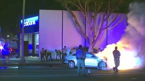 Innocent driver killed in fiery crash at end of pursuit in Fairfax District