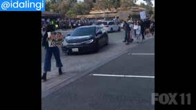 Man drives through red light, yells racial epithets at 'Stop Asian Hate' demonstrators in Diamond Bar