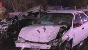 2 killed, 3 injured in wrong-way crash on 110 Freeway