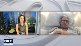 FOX 11's Hal Eisner gives an update on his condition from the hospital