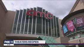 Movie theaters reopen as LA County moves to red tier