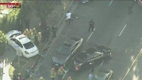Multiple people injured during 6-vehicle collision in Northridge