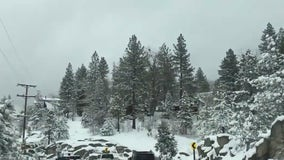 Late winter storm brings snow to SoCal mountains