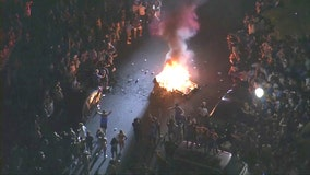 UCLA fans burn couch in Westwood after Bruins punch ticket to Final Four