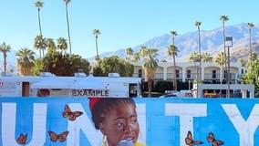 Mural honoring inaugural poet Amanda Gorman painted in Palm Springs