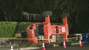 3 displaced after crane allegedly used for movie shoot falls onto Pasadena home