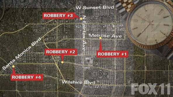 MAP: Beverly Hills shooting latest in string of brazen robberies of high-end jewelry