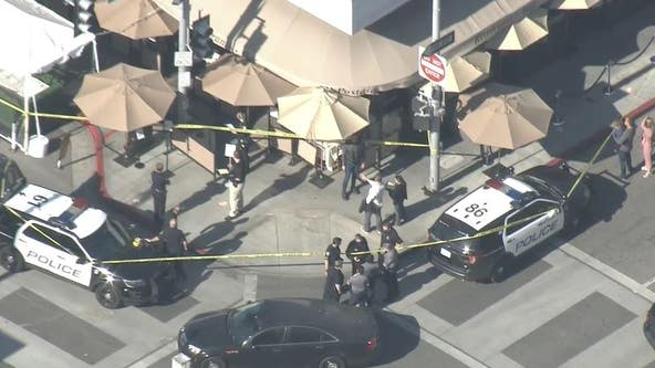 Police investigate shooting at busy Beverly Hills intersection