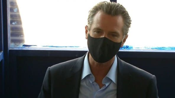 Gov. Newsom visits vaccination site in Long Beach