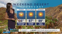 Weekend desert forecast for April 16 - 18