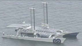 Hydrogen-powered sea vessel on display in Long Beach