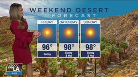 Weekend desert forecast for April 2 - 4