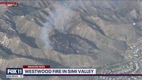 Firefighters battling blaze in Simi Valley.