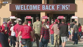 Angel Stadium opens with fans in the stands for first time since 2019