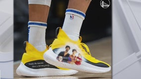 Steph Curry sports sneakers to show support for Asian-American community