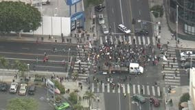 Black Lives Matter protesters block traffic in Fairfax District