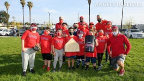 Los Angeles Angels hold youth clinic on Jackie Robinson Day