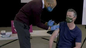 'One and done': Gov. Gavin Newsom receives Johnson & Johnson COVID-19 vaccine in Baldwin Hills