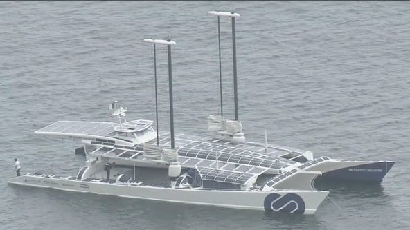 Hydrogen-powered sea vessel on display in Long Beach