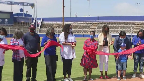 'Dodgers Dreamfields complex unveiled in Compton on Jackie Robinson Day