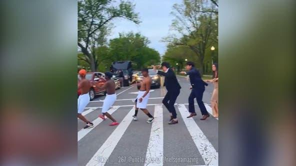 DC crosswalk transforms into dance floor as group entertains drivers