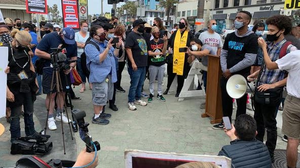 Police arrest 10 protesters at 'White Lives Matter' rally in Orange County