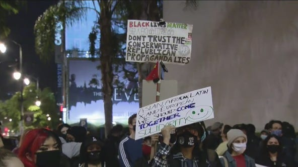Hollywood vigil against police brutality draws hundreds of people