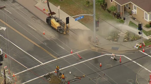 Crews working around the clock to repair natural gas leak in Downey, evacuation order still in effect