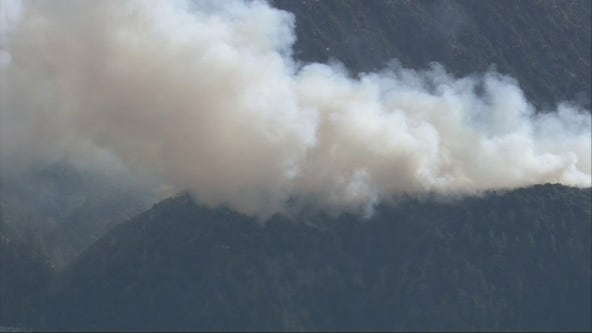 Springs Fire: Firefighters hold brush fire in Angeles National Forest at 62 acres