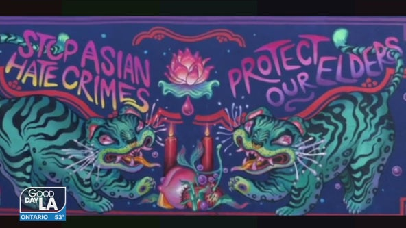 New Los Angeles mural raises awareness against Asian hate amid rise in hate crimes