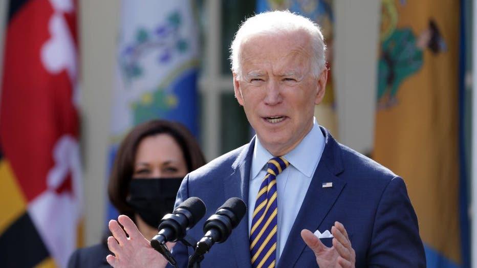 c975e053-President Biden Delivers Remarks On American Rescue Plan From White House Rose Garden