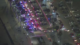 Huntington Beach police tries to disperse crowd after promoted social media event