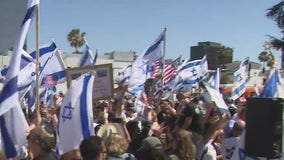 Pro-Israel rally held in Beverly Hills