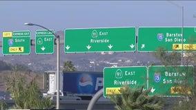 Car windows shot out on 91 Freeway in Corona, Riverside