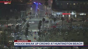 Police break up massive party in Huntington Beach