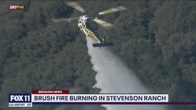 Towsley Fire burning in Stevenson Ranch