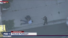 Authorities in pursuit of an SUV after the suspect driver failed to yield