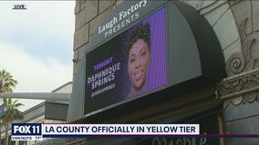 Los Angeles County now in California's least restrictive yellow tier