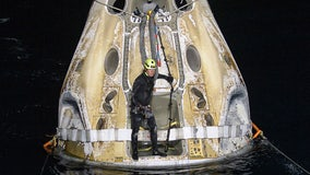 SpaceX returns 4 astronauts to Earth in rare nighttime splashdown