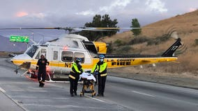 Child, adult airlifted to hospital following crash on 5 Freeway near Pyramid Lake; SigAlert issued