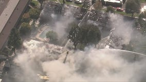 Upland Fire: Massive apartment blaze impacts more than 40 units, firefighter hurt