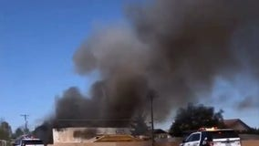 Nellis AFB: Pilot killed after contracted-aircraft crashes south of base in Las Vegas valley
