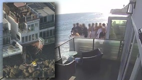 Video captures moment crowded balcony collapses at oceanfront property in Malibu
