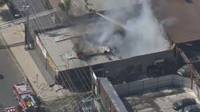 Crews battle structure fire in Pacoima