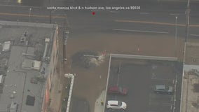 Water main break leads to street flooding in Hollywood