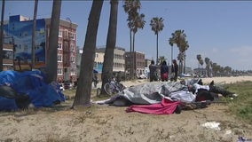 Homeless in Venice don't plan to leave their outdoor beach lifestyle living anytime soon